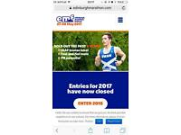 Endingburgh marathon entry number Sunday 28th May