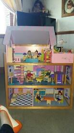 Legler Wooden Dolls House - Nearly New
