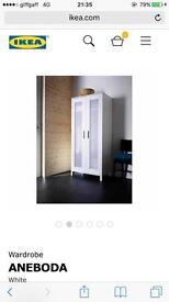 Wardrobe 2doors (oak colour) 81x180cm -£20