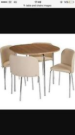 Wanted table and chairs any condition