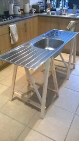Stainless steel double drainer