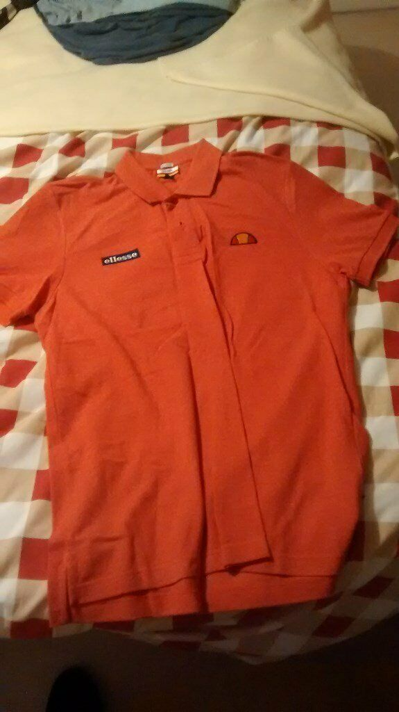 1954ab9049c New Genuine Sample Ellesse Heritage - Marl Orange Polo Shirt Size Medium