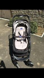 Chicco urban pram travel system sand/black