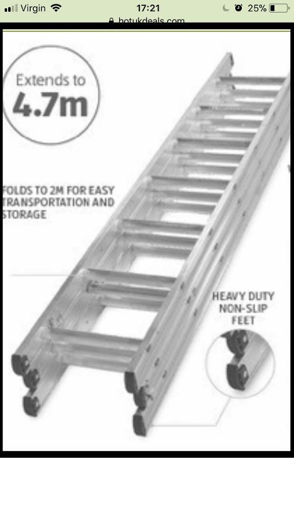 4.7m triple extension ladders