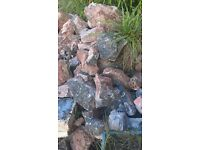 Free to collector stones suitable for wall or rockery