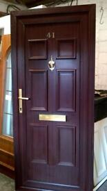 upvc door with frame 34 inches wide x 78 inches high in good condition call 07498143887