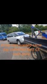 Scrap cars / vans wanted best cash price paid
