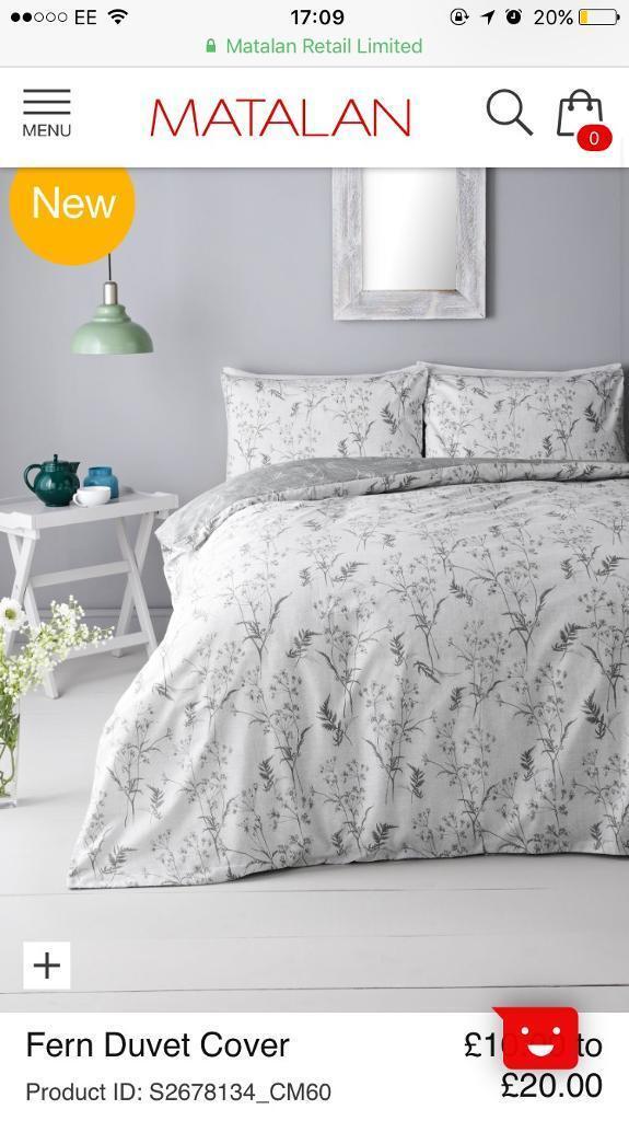 Matalan Single Beddingduvet Set Greywhite In Brislington - Matalan bedroom furniture