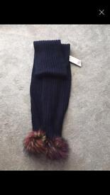 Womens navy scarf. New with tags