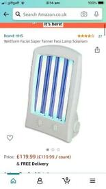 Sunbed light for face
