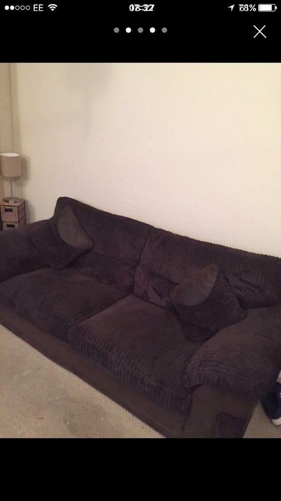 Large 3 seater sofa NEED GONE (in brown )