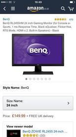 "BenQ RL2455HM HD 24"" Gaming Monitor"