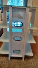 HiFi Seperates AV Stand De Conti ARCAXL Large 4 Shelves in Arctic White 500mm