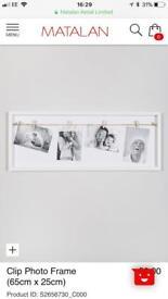 x5 White clip photo frames