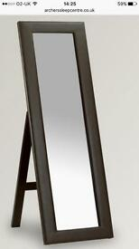 Brown full length faux leather mirror