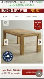Brand new Mango dining table 6ft