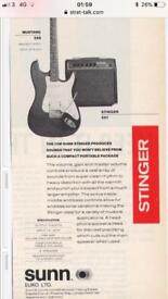 Sunn mustang amp by Fender musical instrument company