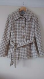 Ladies Wool Coat. Size 14. M&S. As New Condition