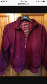 Harrington jacket. Maroon