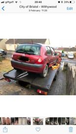 Renault Clio 01-08 Breaking for parts