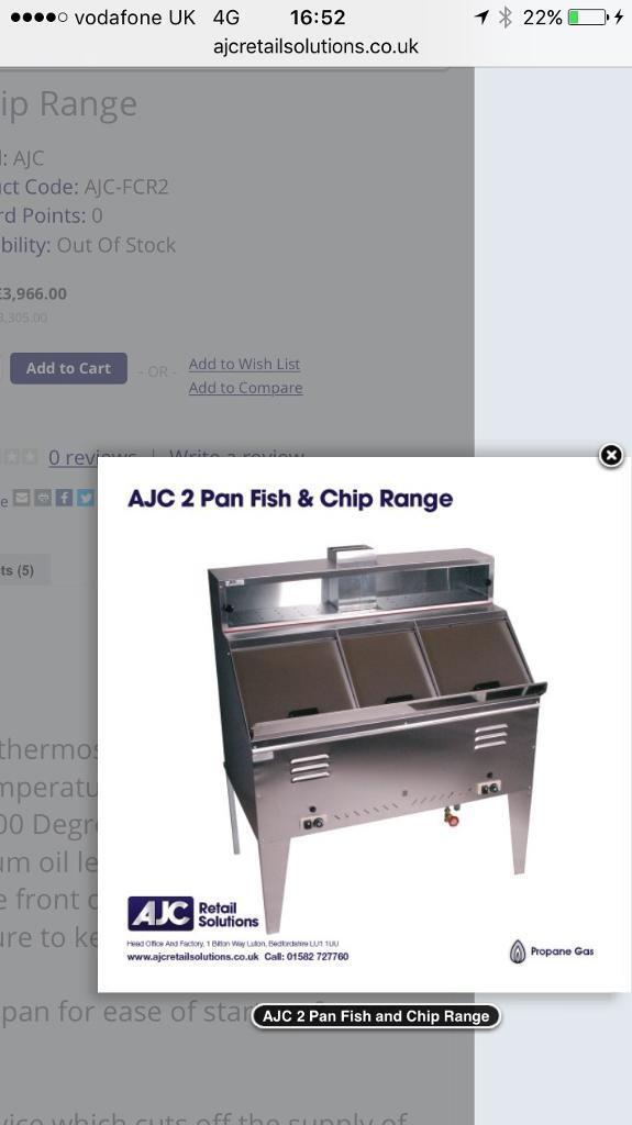 two pan fish and chip range ideal for fish amd chip range LPG GAS