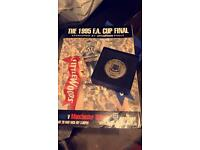 Everton FA cup final programme and replica medal