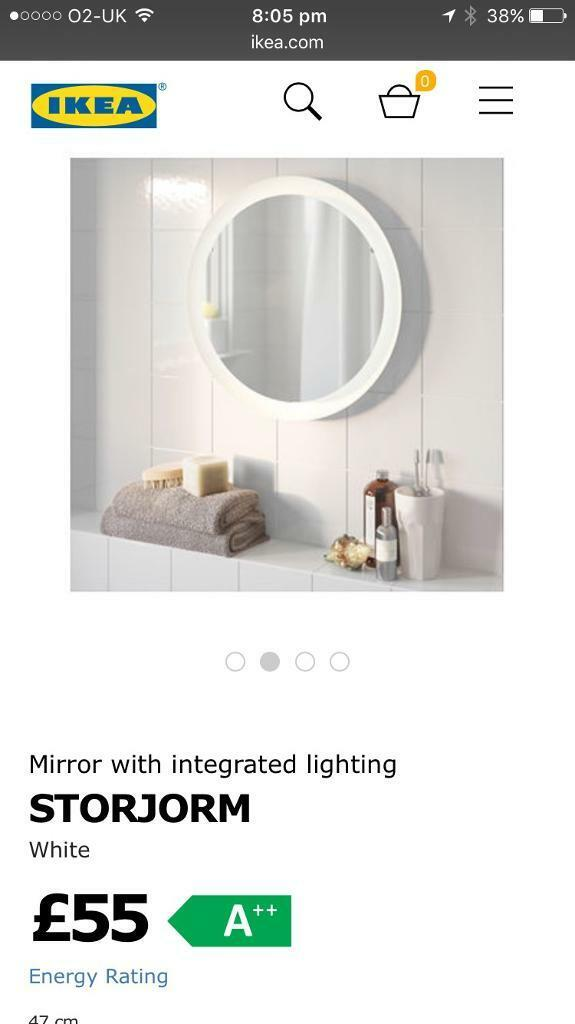 Brand New Ikea Storjorm Mirror With Integrated Light
