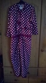 ladies onesie with hood size 20-22 from matalan worn once