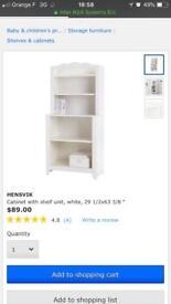 Ikea cabinet with shelf unit