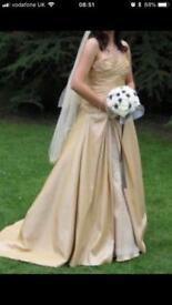 Golden wedding / prom dress size 10, 12, 14