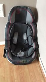 Car seat group 1 2 3 . Bought the car seat from kiddicare . It's in very good condition