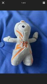 London Olympics 2012 Official Mascot Wenlock Soft Toy GREY/SILVER Plush toy
