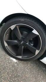 Audi rotor alloys orignal not replica matt black fit vw 18 inch black edition a3 a4 golf