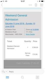 Weekend Parklife ticket 2018