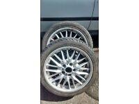 GENUINE BMW MV1 REAR ALLOY 8.5j x18 245/45/ZR18 WITH BALD TYRE