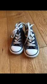 Navy High Top Converse infant size 5