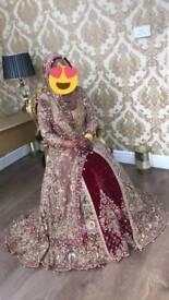 "Asian Bridal dress lengha size 10-12 ""Xari collection showstopper"""