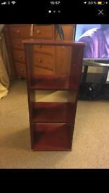 Wooden storage shelf