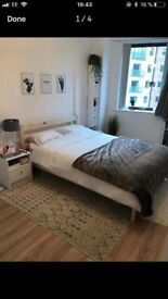 Double bed frame - Dismantled collection only
