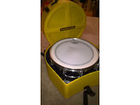 Yamaha Stage Custom Steel Snare Drum 6.5 x 14 & Fully Lined Hardcase Drum Case