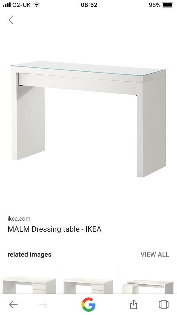 Ikea white Malm Dressing Table/Desk - WANTED