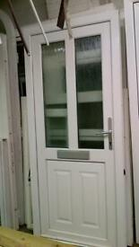 upvc door with frame 34 1/2 inches wide x 80 inches high in good condition call 07498143887