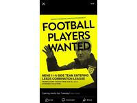 Sunday League football team players needed