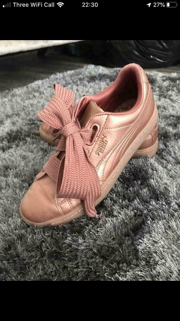 Woman's rose gold puma trainers | in Cambuslang, Glasgow | Gumtree