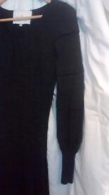 Grey WOOL DRESS, Designers Remix Charlotte Eskildsen Collection, size XS