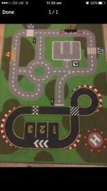Car road map rug