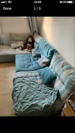 Large modular corner sofa