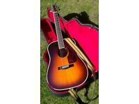 American Fender acoustic guitar - as new - in hard case