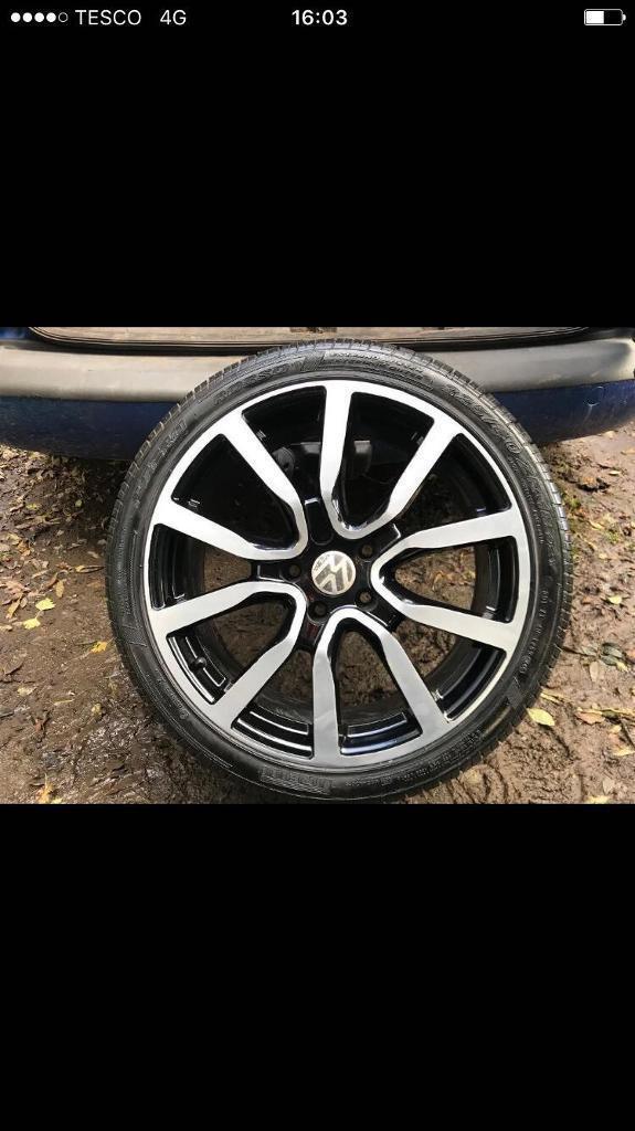 18In Volkswagen Golf Gtd Gti Alloys Diamond Cut