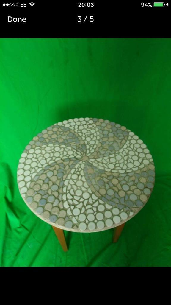 Mosaic tile top table FREE DELIVERY PLYMOUTH AREA